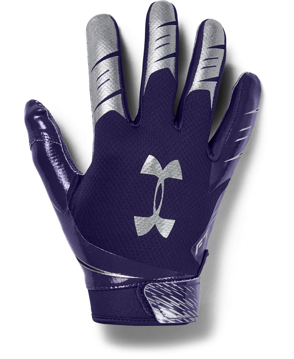 UA F7 Gants Football Américain Homme Purple