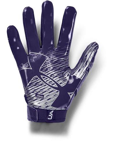 UA F7 Guantes Fútbol Americano para Hombre Purple
