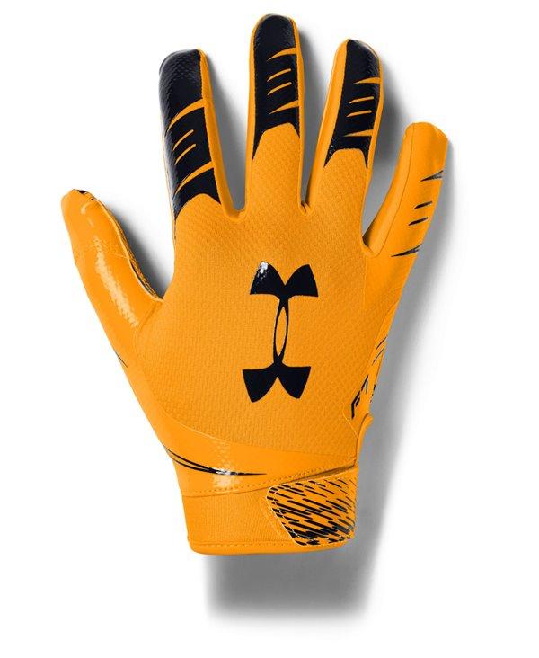 UA F7 Men's Football Gloves Steeltown Gold