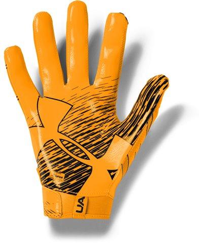 UA F7 Herren American Football Handschuhe Steeltown Gold