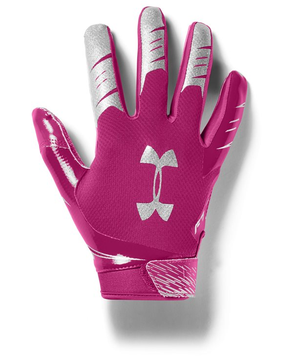 UA F7 Herren American Football Handschuhe Tropic Pink