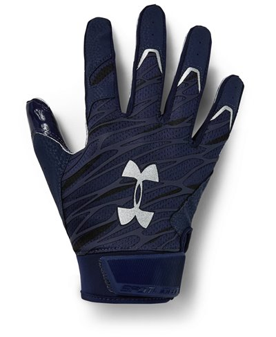 UA Spotlight Herren American Football Handschuhe Midnight Navy