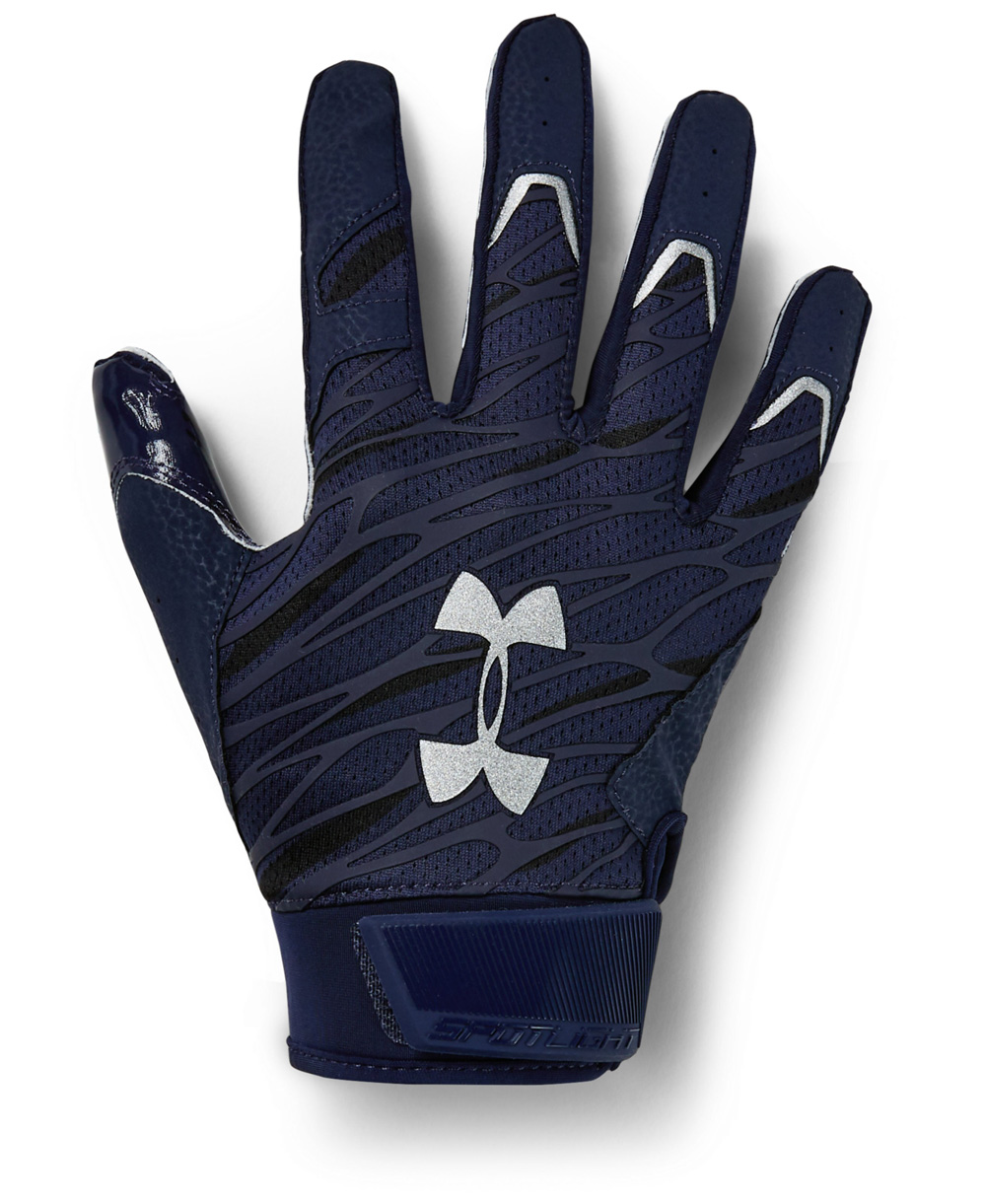 UA Spotlight Men's Football Gloves Midnight Navy
