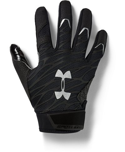 UA Spotlight Herren American Football Handschuhe Black