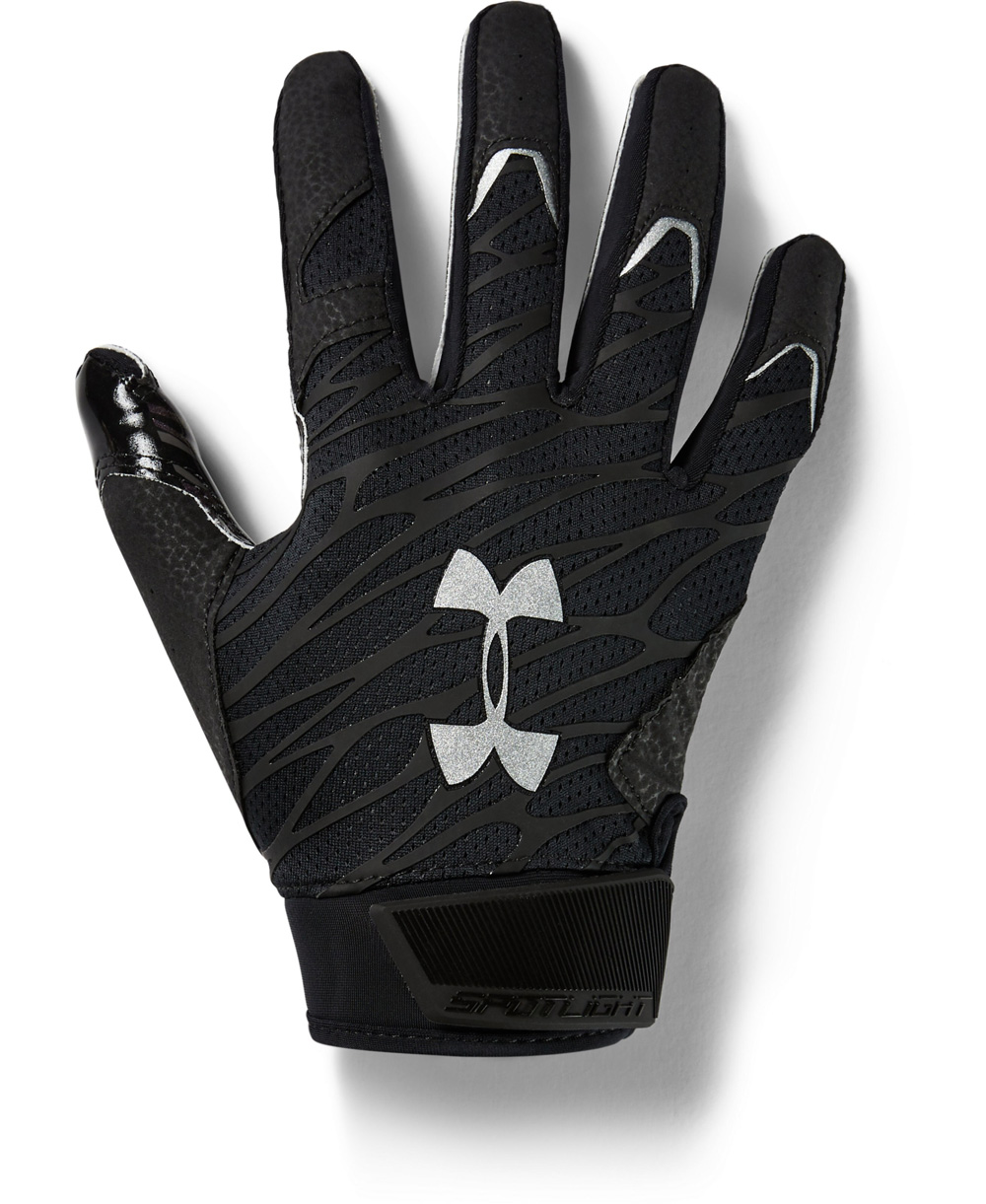 UA Spotlight Guanti Football Americano Uomo Black