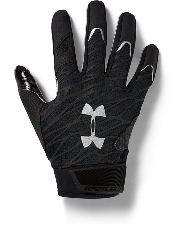 UA Spotlight Herren American Football Handschuhe Black