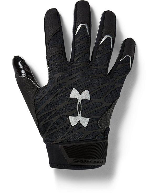 UA Spotlight Men's Football Gloves Black