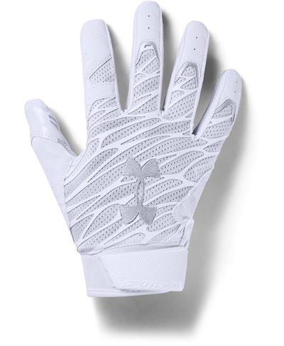 UA Spotlight Herren American Football Handschuhe White