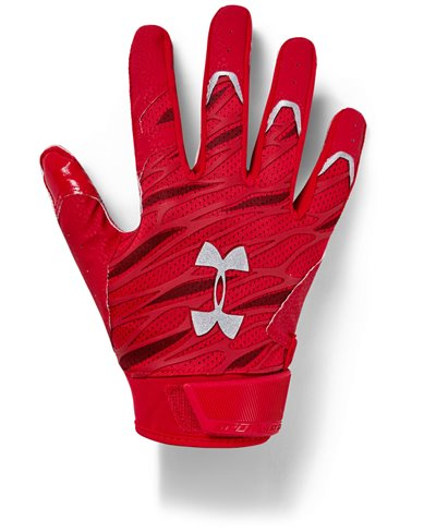 UA Spotlight Herren American Football Handschuhe Red