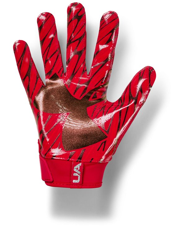 UA Spotlight Herren American Football Handschuhe Red