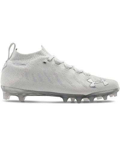 UA Spotlight Lux MC Scarpe da Football Americano Uomo White