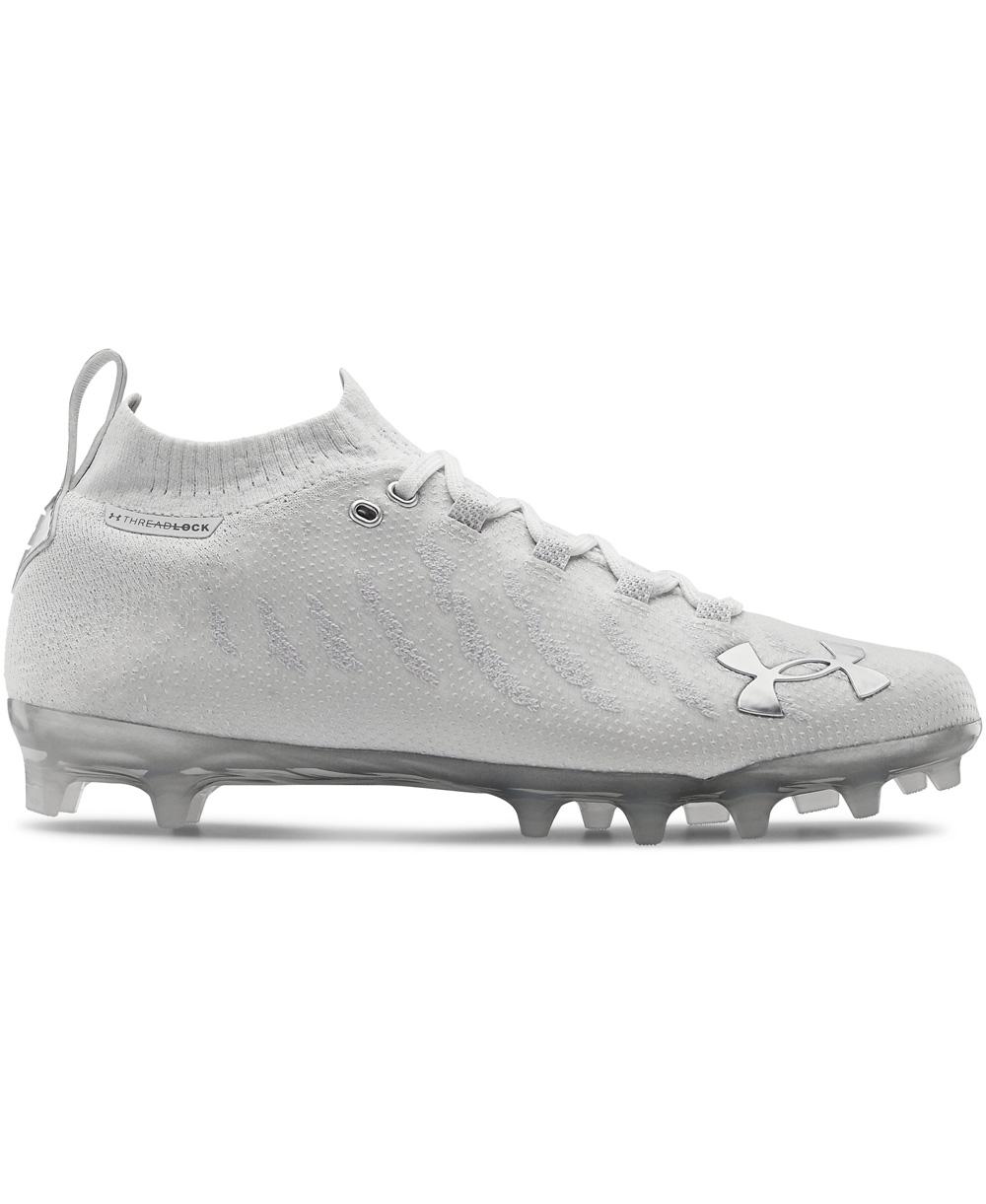 UA Spotlight Lux MC Zapatos de Fútbol Americano para Hombre White