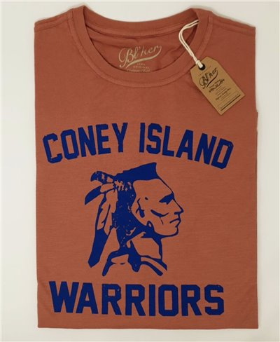 Coney Island Camiseta Manga Corta para Hombre Red