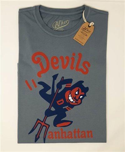 Devils Manhattan T-Shirt à Manches Courtes Homme Petroleum