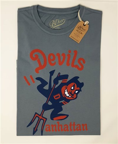 Herren Kurzarm T-Shirt Devils Manhattan Petroleum