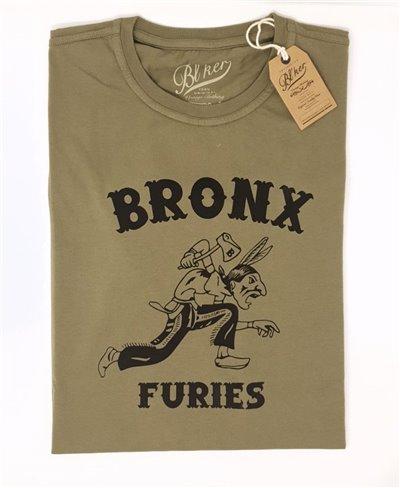 Bronx Furies Camiseta Manga Corta para Hombre Military Green