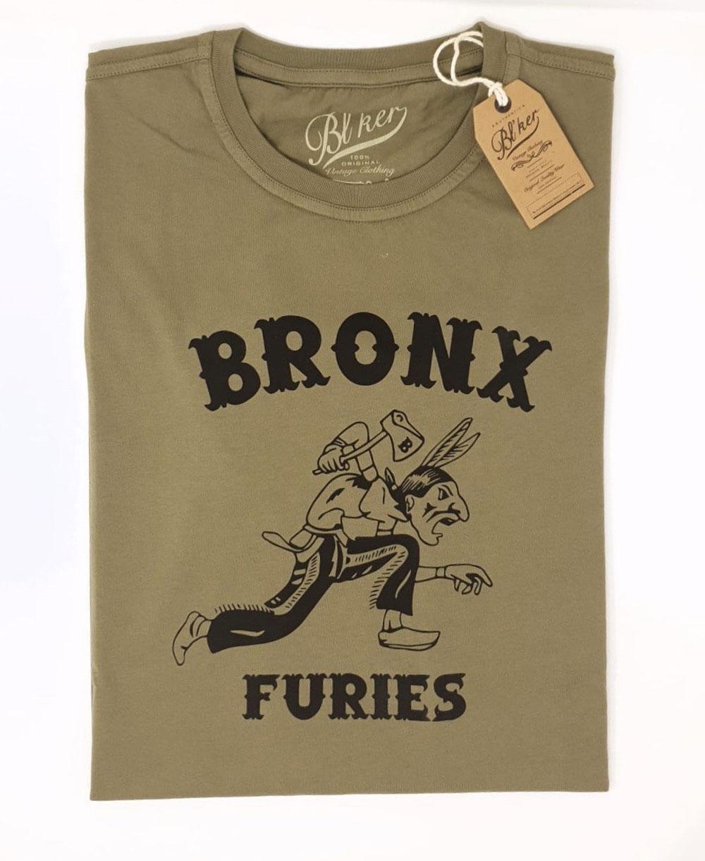 Herren Kurzarm T-Shirt Bronx Furies Military Green