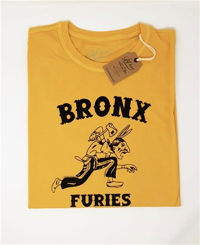 Herren Kurzarm T-Shirt Bronx Furies Yellow