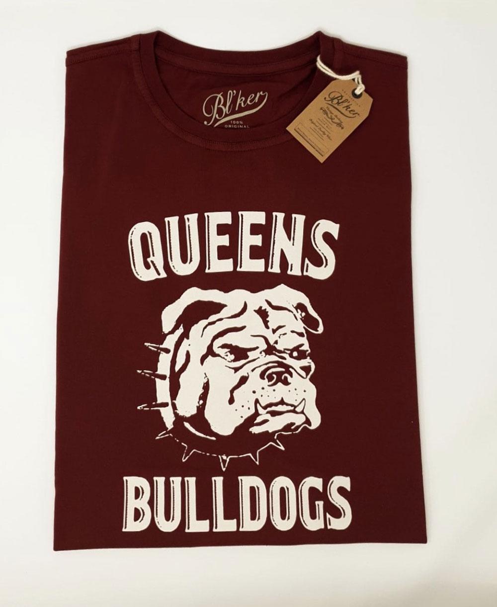 Men's Short Sleeve T-Shirt Queens Bulldog Bordeaux