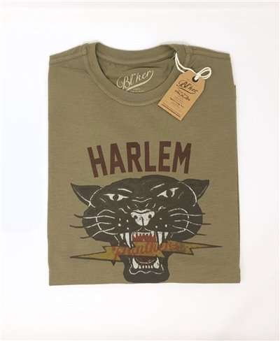 Harlem Panthers Camiseta Manga Corta para Hombre Military Green