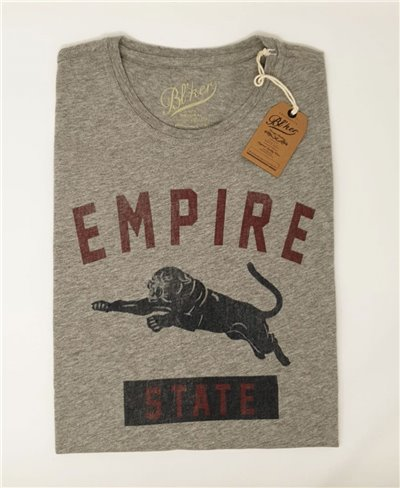 Empire State Camiseta Manga Corta para Hombre Heather Grey