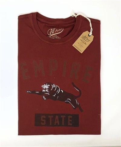 Empire State T-Shirt à Manches Courtes Homme Bordeaux