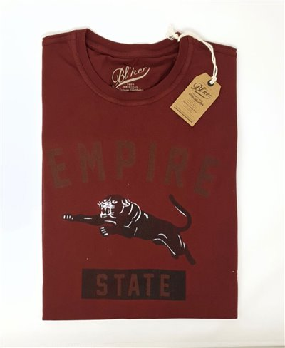 Men's Short Sleeve T-Shirt Empire State Bordeaux