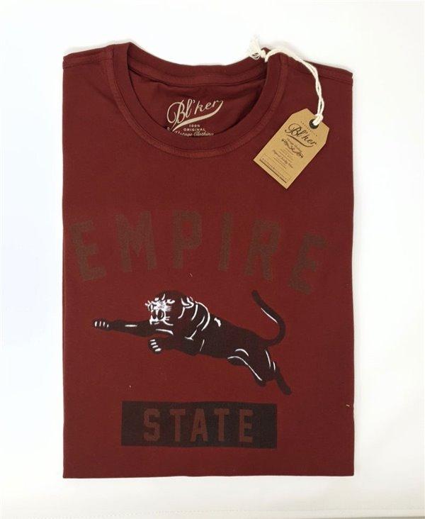 Empire State Camiseta Manga Corta para Hombre Bordeaux