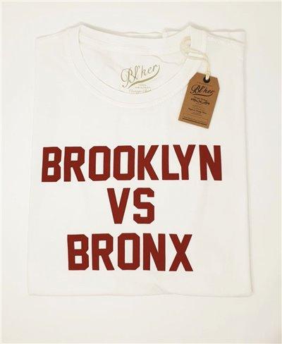 Brkln Vs Bronx Camiseta Manga Corta para Hombre White