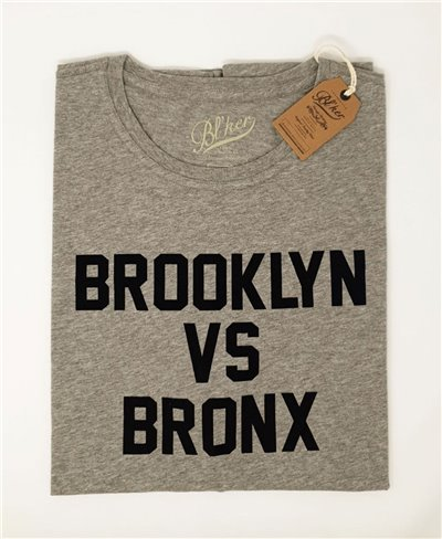 Herren Kurzarm T-Shirt Brkln Vs Bronx Heather Grey