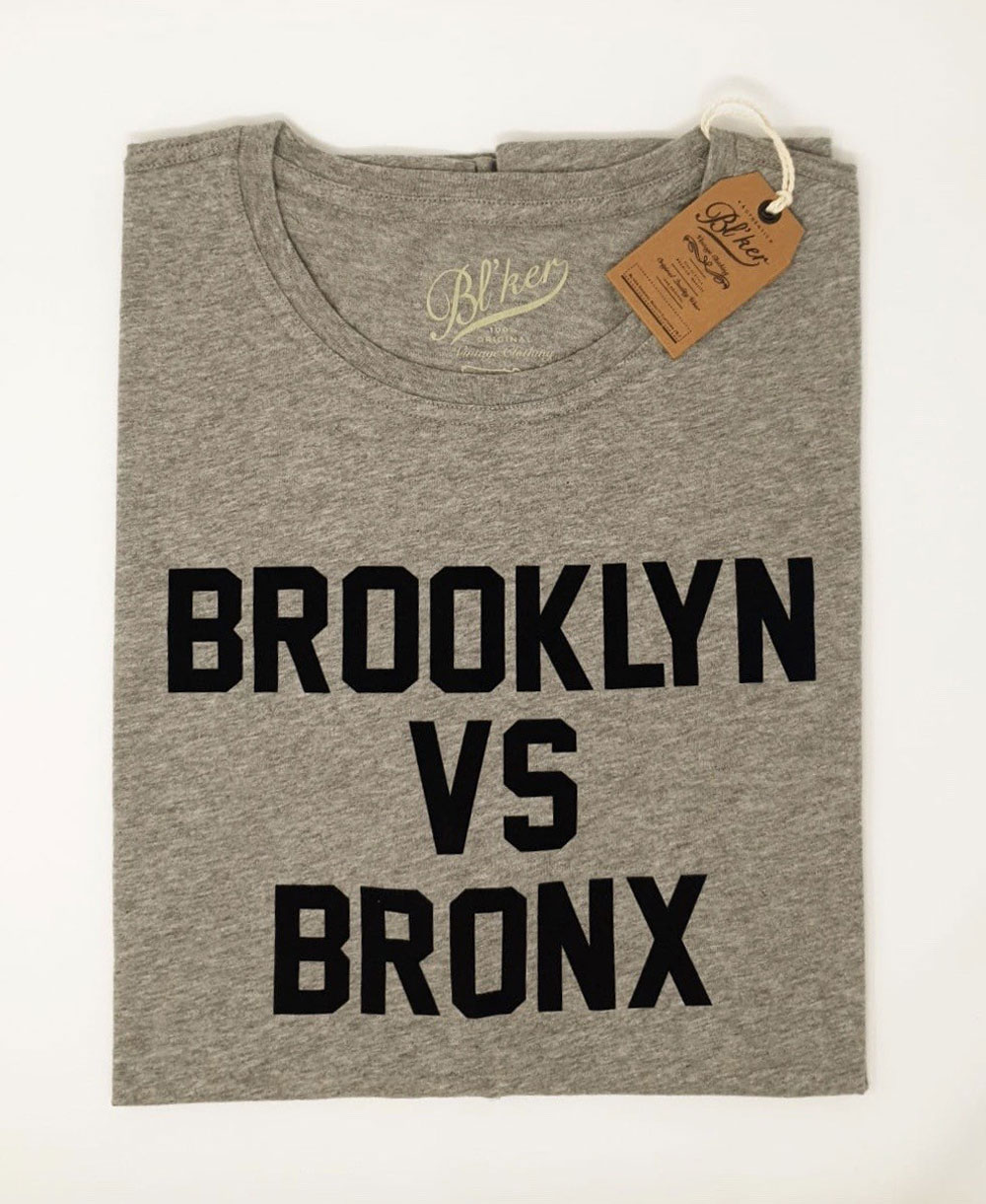Brkln Vs Bronx Camiseta Manga Corta para Hombre Heather Grey
