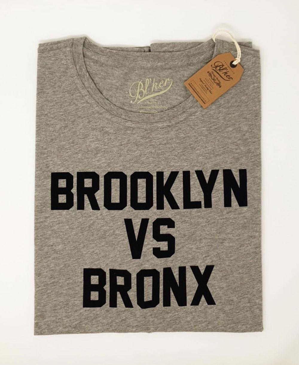 Herren Kurzarm T-Shirt Brkln Vs Bronx Heather Grey