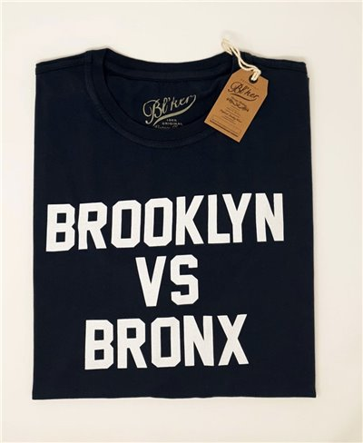 Men's Short Sleeve T-Shirt Brkln Vs Bronx Navy