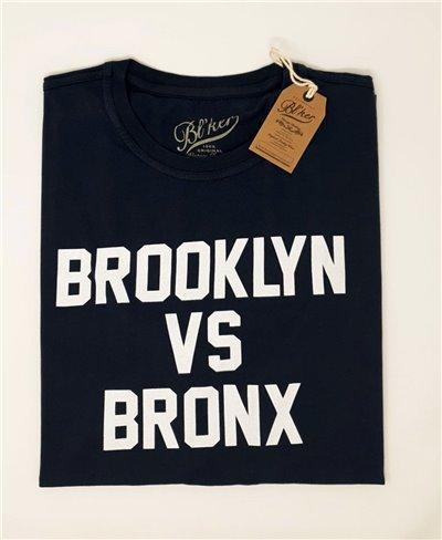Men's Short Sleeve T-Shirt Brkln Vs Bronx Navy