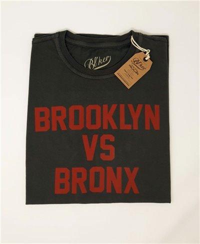 Brkln Vs Bronx T-Shirt à Manches Courtes Homme Faded Black