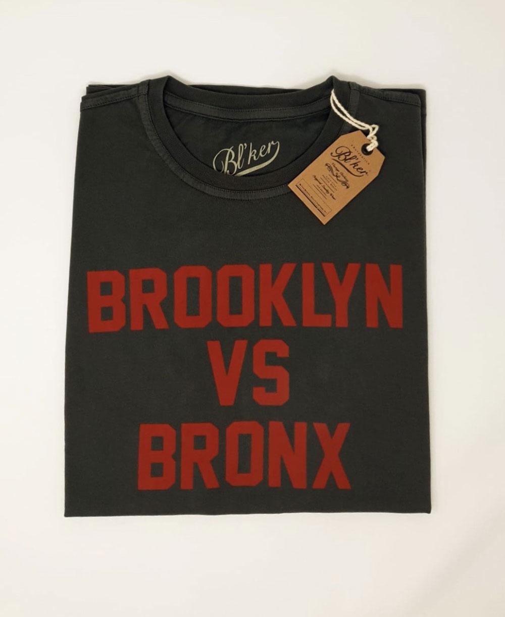 Men's Short Sleeve T-Shirt Brkln Vs Bronx Faded Black