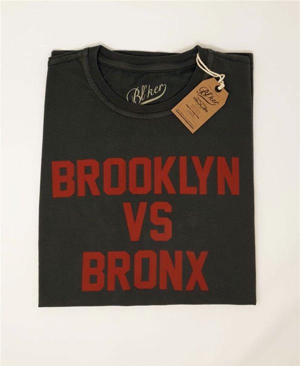 Herren Kurzarm T-Shirt Brkln Vs Bronx Faded Black
