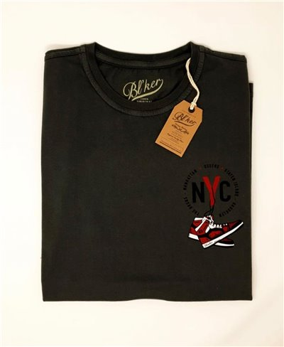NY Jump T-Shirt Manica Corta Uomo Faded Black