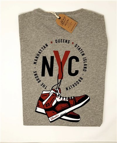 NY Jump T-Shirt Manica Corta Uomo Heather Grey