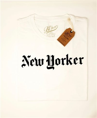 Men's Short Sleeve T-Shirt New Yorker White