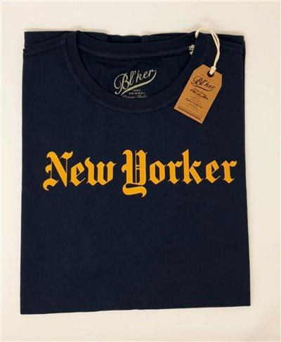 Herren Kurzarm T-Shirt New Yorker Navy