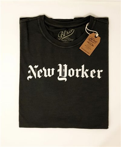 Herren Kurzarm T-Shirt New Yorker Faded Black