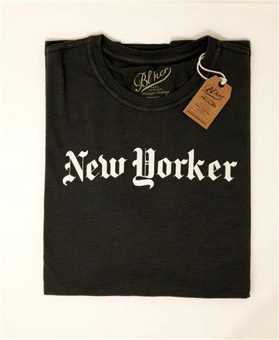 Men's Short Sleeve T-Shirt New Yorker Faded Black