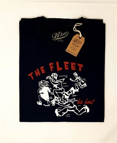 The Fleet Camiseta Manga Corta para Hombre Navy