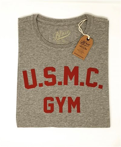 Herren Kurzarm T-Shirt USMC Gym Heather Grey