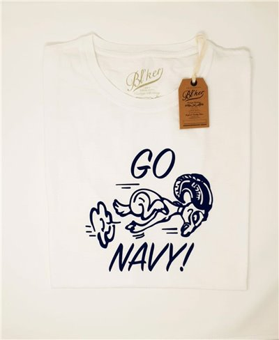 Men's Short Sleeve T-Shirt Go Navy White