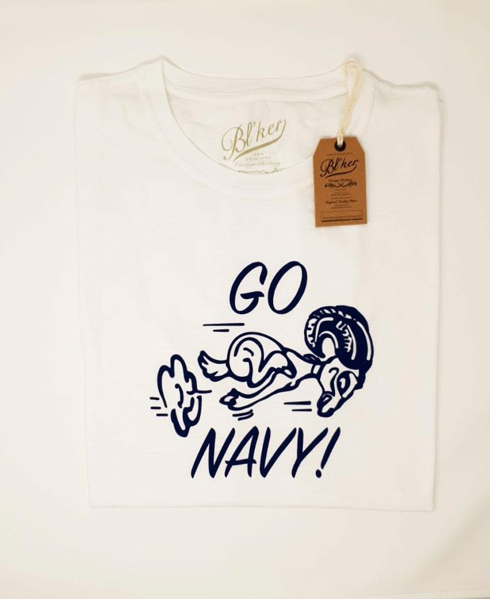 Men's Short Sleeve T-Shirt Go Navy White
