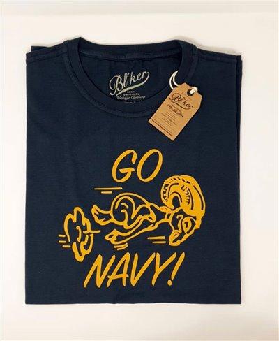 Go Navy Camiseta Manga Corta para Hombre Navy