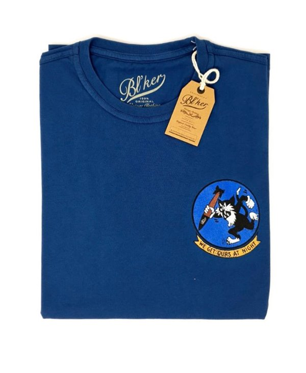 Herren Kurzarm T-Shirt Get Ours Patch Indigo