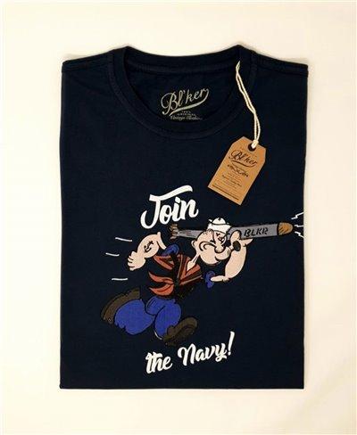 Popeye Camiseta Manga Corta para Hombre Navy